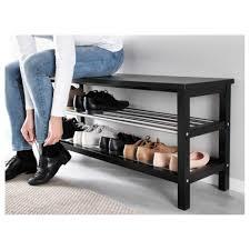 bench shoe organizer bench tjusig bench shoe storage black ikea
