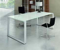 Glas Desk Stylish White Glass Office Desk Desk Amazing Glass Top Desk