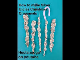 how to make silver icicle ornaments for the tree crafts for