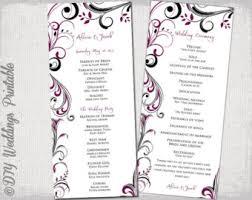 Chalkboard Wedding Program Template Chalkboard Wedding Program Template Chalk Board Programs Black