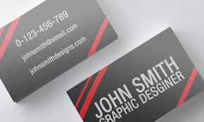 striped black and red business card template by nik1010 on deviantart
