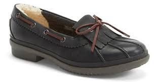 ugg haylie sale lyst ugg haylie waterproof loafer in black