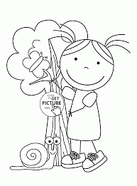 spring day coloring page for kids seasons coloring pages
