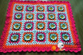 Crochet Designs Flowers How To Crochet Baby Flower Blanket Afghan Free Pattern Tutorial By