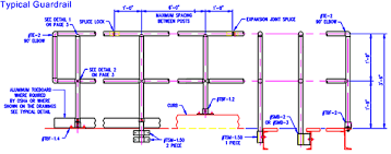 Tubular Handrail Standards Osha Handrail Guardrail Specifications Cad Drawing Thompson