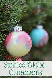 how to make your own swirled paint ornaments