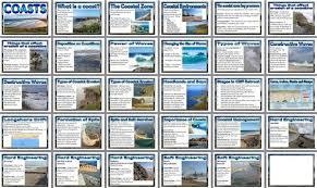 geography ks3 resources coasts printable posters ks3 coasts set