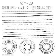 free illustrator brushes u2013 natural sketch doodle lines set mels
