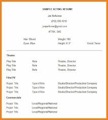 acting resume template free acting resume template resume