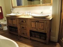 vanité chambre de bain vanité en pin atelier meuble rustique