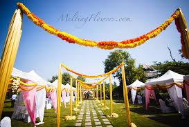 Indian Wedding Decoration Ideas Sunshine Marigold Theme Wedding Wedding Decorations Flower