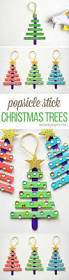 glittering popsicle stick christmas trees recipe trees