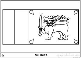 sri lanka flag coloring pages free