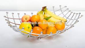 modern fruit holder fruit basket with banana holder chrome metal wire hanger buy fruit