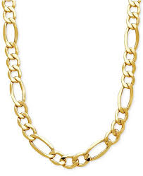 figaro gold necklace images Italian gold men 39 s figaro link chain necklace in 10k gold tif