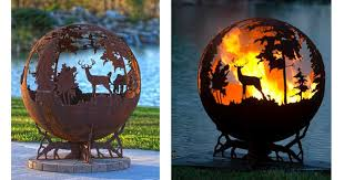Sphere Fire Pit by 10 Amazing U0026 Beautiful Metal Fire Pits That Are Works Of Art