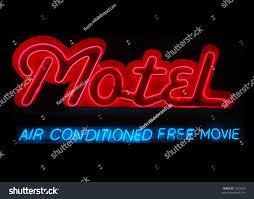 design hotel dã sseldorf illuminated motel neon sign air conditioning stock photo 7010629
