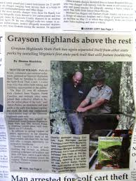 Grayson Highlands State Park Map by News From Ghsp Grayson Highlands Bouldering Page 6