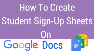 Safety Sign In Sheet Template How To Create A Sign Up Sheet On Docs
