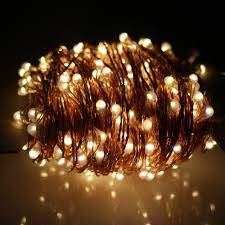 Orange Solar String Lights by Copper Wire Solar String Fairy Lights Solar Panel 8 Modes 100