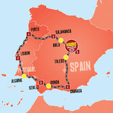 Blank Map Of Spain by Spain And Portugal Tour U2013 Coach Tours From Madrid U2013 Expat Explore