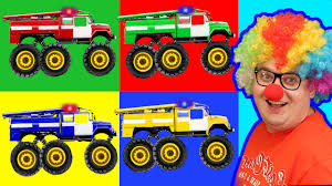 monster truck jam videos for kids learning colors monster fire trucks funny trucks monster