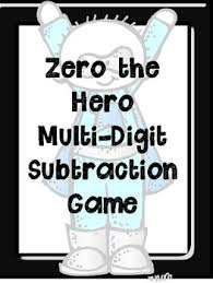 zero the hero two different subtraction games with regrouping by