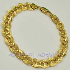 gold plated bracelet chain images 8 5 quot inch 10mm 16g real men 18k yellow gold plated bracelet solid jpg
