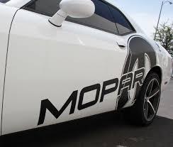 Dodge Challenger Decals - dodge challenger 08 14 black vinyl mopar graphics for both sides