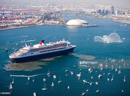 largest cruise ship in the world usa queen mary 2 historic visit to los angeles port pictures