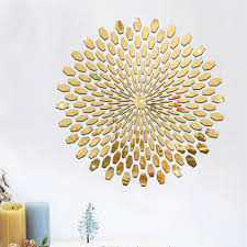 online get cheap abstract wall mirrors aliexpress com alibaba group 1 set fashion silver gold diy 3d acrylic mirror surface wall stickers round shape abstract pattern diy home decor art decoration