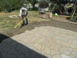 Paver Patio Cost Calculator Laura Flagstone Patio Cost Vs Stamped Concrete