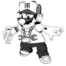 gangsta coloring pages gangsta mario by sheen teen on deviantart