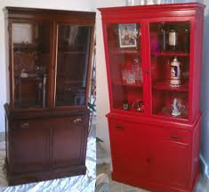 painted china cabinet red u2014 jessica color beautiful painted