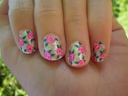 rose design on nails how you can do it at home pictures designs
