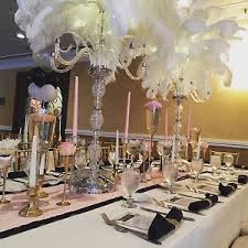 ostrich feather centerpieces ostrich feather centerpieces candelabra vase rental it