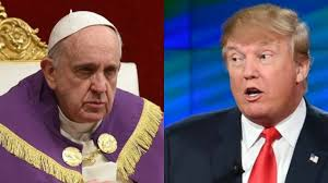 trump pope francis pope francis u0027s comments on donald trump u0027s christianity spark jokes