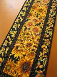 Fall Table Runners by Handmade Quilted Table Runner Sunflowers 38 00 Handmade