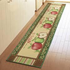yazi vintage country apples soft fabric kitchen runner rug floor