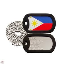 Philippines Flag Flag Flag Of The Philippines Dog Tag Set