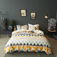 geometric pattern bedding amazon com modern boho tribal bedding aztec stripe print cotton