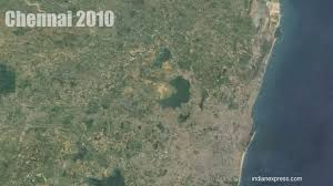 satellite maps 2015 see how green madras became brown chennai the indian express