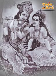 radha krishna pencil and pen by narmadagamage on deviantart