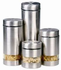 kitchen canisters stainless steel product purelife by ragalta 4 pc stainless steel canister set