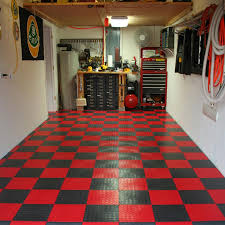 pleasing square fluorescent light with decorative storages also pleasing square fluorescent light with decorative storages also red checkered garage floor tile also white wall