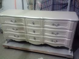 vintage french provincial dresser painted pearl white metallic