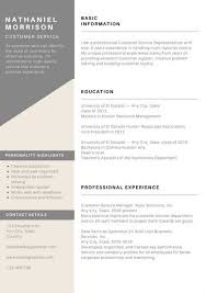 Resume Examples Customer Service Resume by Resume Templates Canva