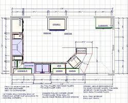 Kitchen Floorplan Kitchen Amazing Kitchen Floor Plans With Dimensions Design And