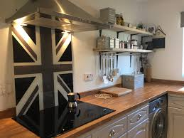 our union jack cooker splashbacks can be made to any size or