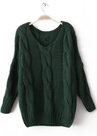 knitted sweater green sleeve pullovers knitted sweater shein sheinside